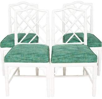 Jonathan Adler Set of 4 Chippendale Dining Chairs