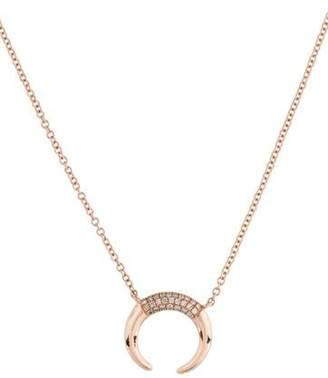 Anne Sisteron 14K Diamond Mini Taureau Pendant Necklace