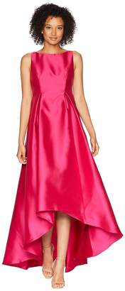 Adrianna Papell High-Low Halter Mikado Gown Women's Dress