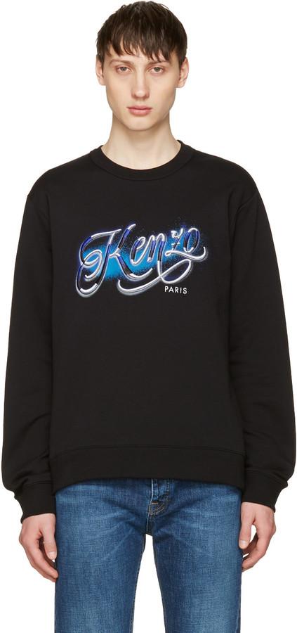 Kenzo Black Lyrics Sweatshirt