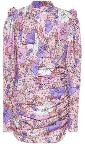 Bedrucktes Minikleid Kartagena aus Seide