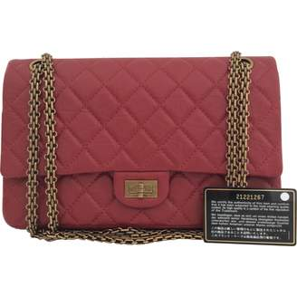 Chanel 2.55 Burgundy Leather Handbag