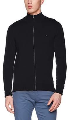 Tommy Hilfiger Men's Cotton Silk Zip Through Sweat Jacket,Large