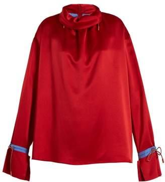 Roksanda Archer Silk Satin Blouse - Womens - Red