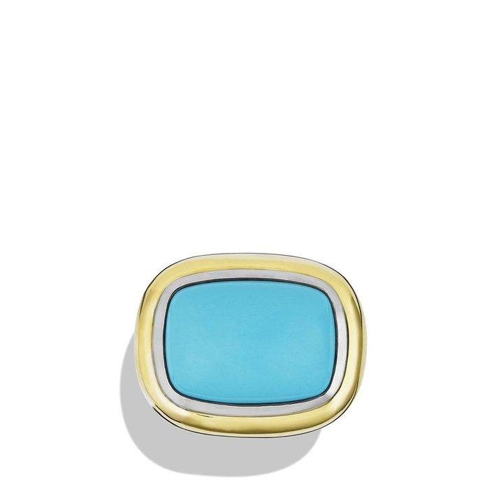 David Yurman Waverly Ring with Turquoise and Gold
