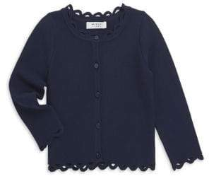 Milly Minis Little Girl's& Girl's Eyelet Cardigan
