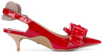 No.21 buckle-detail kitten heels