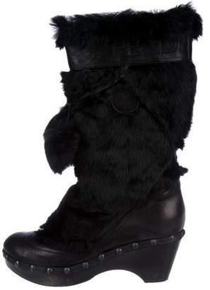 Fendi Fur Mid-Calf Boots