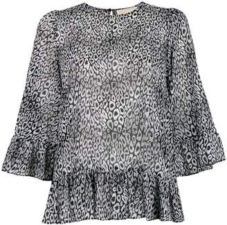 MICHAEL Michael Kors leopard georgette blouse