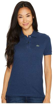 Lacoste Short Sleeve Two-Button Classic Fit Pique Polo Women's Clothing