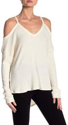 Honey Punch Cold Shoulder Knit Top