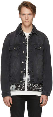 Ksubi Black Denim Beaten Up Classic Jacket