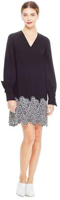 Lela Rose Crochet Lace Full Sleeve Tunic Dress