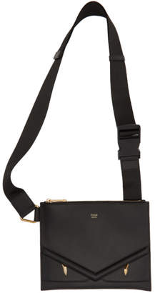 Fendi Black Slim Bag Bugs Messenger Bag