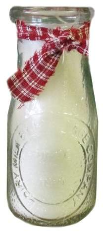 StarHollowCandleCo Milk Bottle Scented Jar Candle