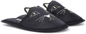 Charlotte Olympia House Cats satin slippers