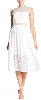 Love...Ady Lace & Mesh Midi Dress