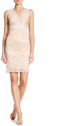 London Dress Company Surplice Neckline Lace Dress