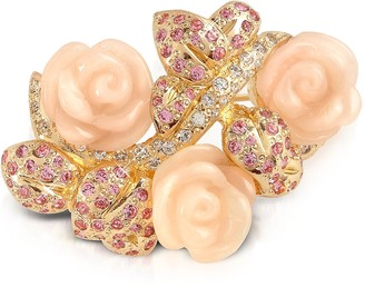 A-Z Collection Pink Roses Brooch