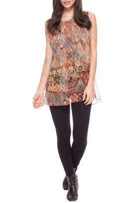 Adore Feather Sleeveless Top