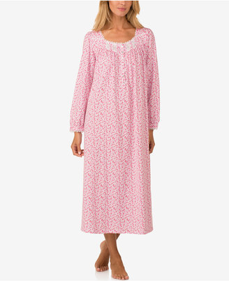 Eileen West Lace-Trimmed Knit Ballet-Length Nightgown $70 thestylecure.com