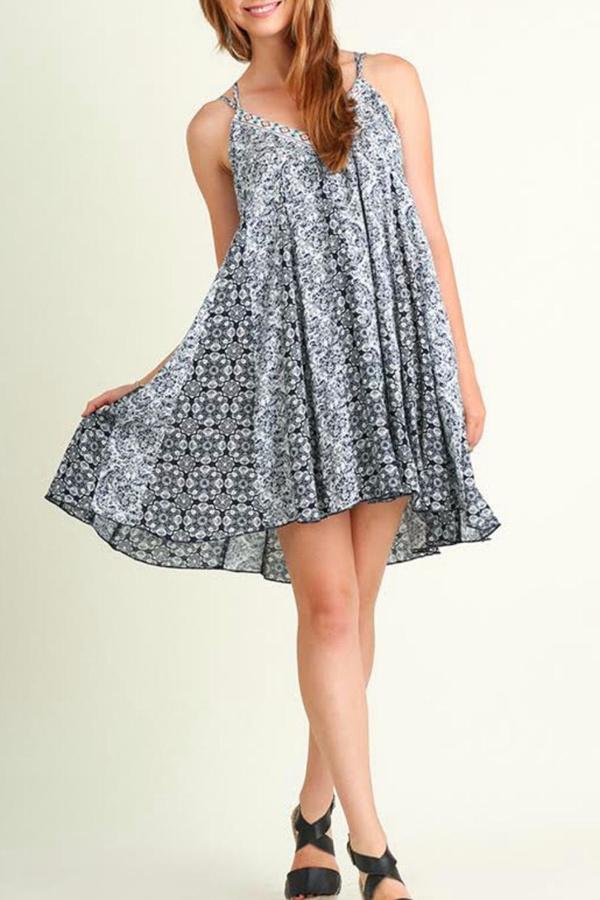 Umgee USA A-Line Print Dress