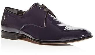 Salvatore Ferragamo Men's Patent Leather Plain Toe Oxfords