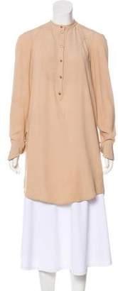 Alexander McQueen Long Sleeve Silk Tunic
