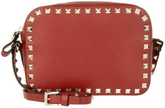 Valentino Rockstud Camera Crossbody Bag Rosso