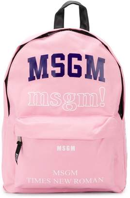 MSGM Kids Fonts backpack