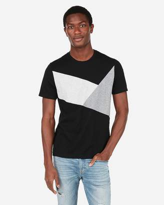 Express Triangle Jersey Crew Neck Tee