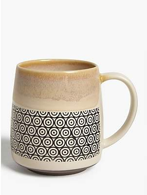 John Lewis & Partners Reactive Glaze Jumbo Mug, 565ml, Sand