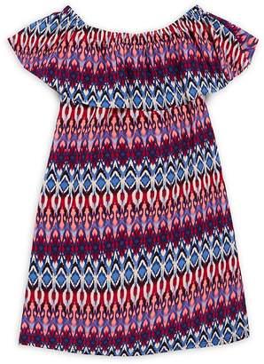 Un Deux Trois Girl's Peasant Ruffle Dress
