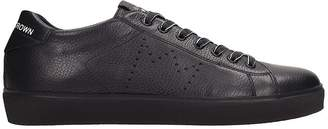 Leather Crown Black Leather Sneakers