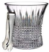 Waterford 'Lismore Diamond' Lead Crystal Ice Bucket & Tongs