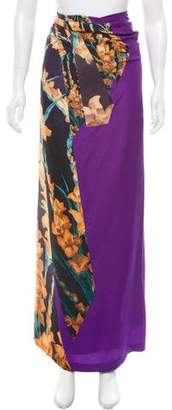 Dries Van Noten Floral Print Maxi Skirt w/ Tags
