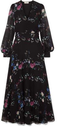 Equipment + Tabitha Simmons Clemense Ruffled Floral-print Silk-chiffon Maxi Dress