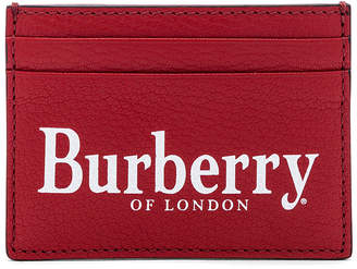 Burberry Sandon Card Holder in Rust Red | FWRD