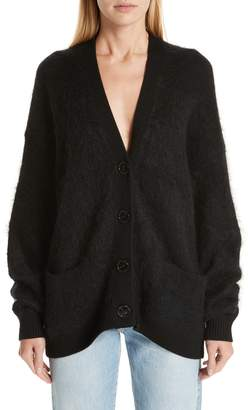 Acne Studios Oversize Wool & Mohair Blend Cardigan