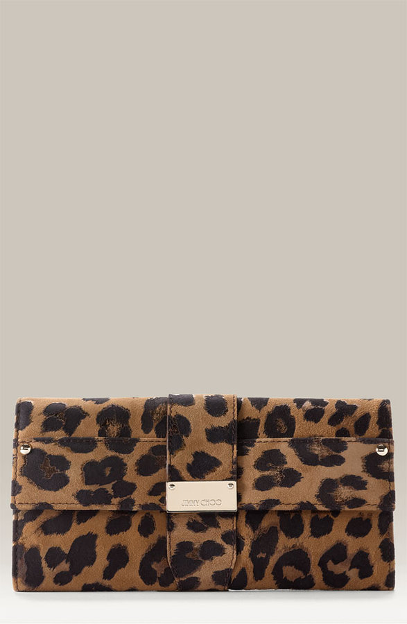 Jimmy Choo Leopard Print Clutch