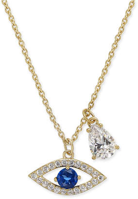 """Danori 18k Gold-Plated Pave Evil-Eye and Crystal Teardrop Pendant Necklace, 16"""" + 2"""" extender, Created for Macy's"""