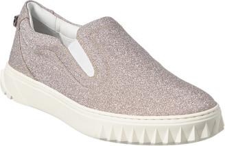 Salvatore Ferragamo Momo Glitter Slip-On Sneaker