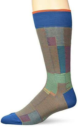 Bugatchi Men's Fashion Mercerized Cotton Classic Lines Pattern Sock