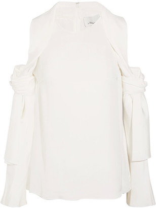 3.1 Phillip Lim - Cutout Silk-satin Top - Ivory $495 thestylecure.com