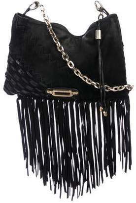 Jimmy Choo Suede Fringe Crossbody Bag Black Suede Fringe Crossbody Bag