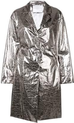 Fabiana Filippi metallic trench coat