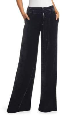 Proenza Schouler Crushed Velvet Wide-Leg Pants