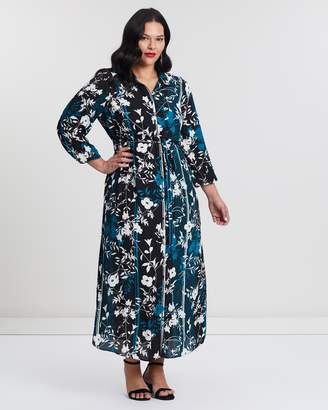 Evans Print Maxi Shirt Dress