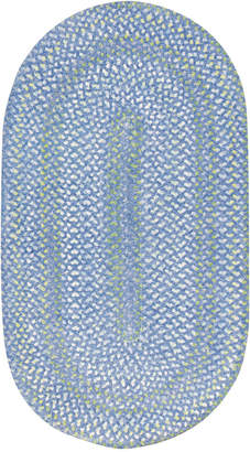 Capel Area Rug, Sailor Boy Oval Braid 0470-400 Deep Blue Sea 7' x 9'