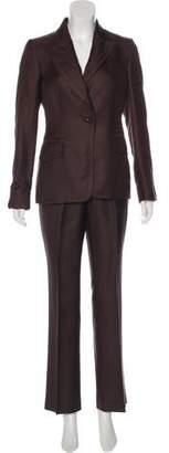 Gucci Silk Wide-Leg Pantsuit